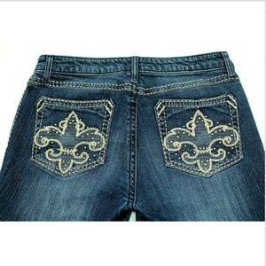 Wrangler Rock 47 Low Rise Distressed Jeans Women's